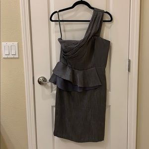 Gray Max and Cleo one shoulder cocktail dress